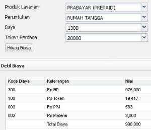 PLN Prabayar R1 Daya 1300watt