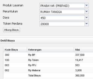 PLN Prabayar R1 Daya 450watt