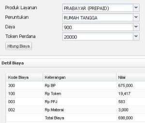 PLN Prabayar R1 Daya 900watt
